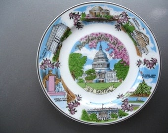 Great vintage Washington D.C. Souvenir Plate