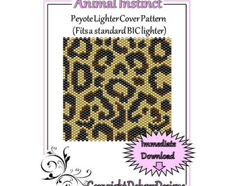 Bead Pattern Peyote(Lighter Cover)-Animal Instinct