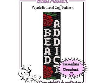 Bead Pattern Peyote(Bracelet Cuff)-Bead Addict
