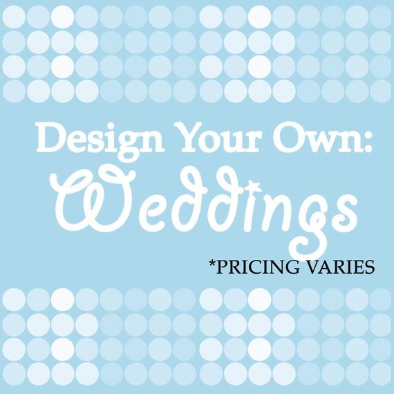 Design Your Own Wedding Cake: Items Similar To DESIGN YOUR OWN: Wedding Cake Toppers On Etsy
