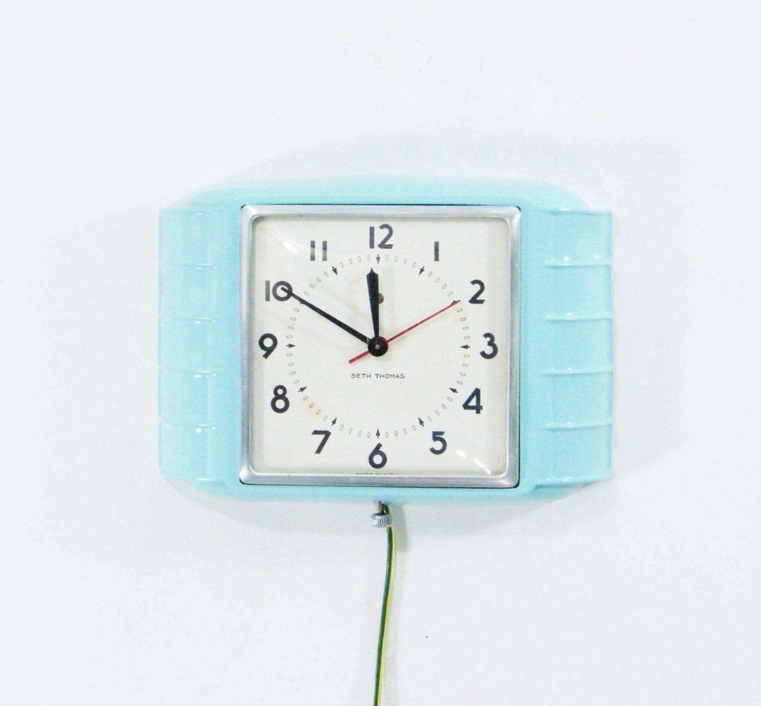 kitchen wall clock turquoise blue