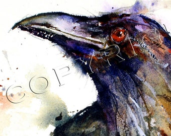 RAVEN Watercolor Greeting Card 6-Pak