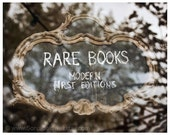 "Rare Books, Paris, bookstore, old-fashioned, sepia-toned Paris Photography 8"" x 10"" or 16"" x 20"" Original Fine Art Photograph"