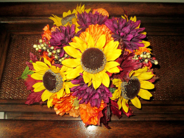 Unique Fall Wedding Centerpieces: Fall Centerpieces Wedding Reception Centerpiece Sunflower
