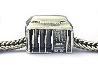 San Francisco Cable Car Landmark Bead Sterling Silver LM031