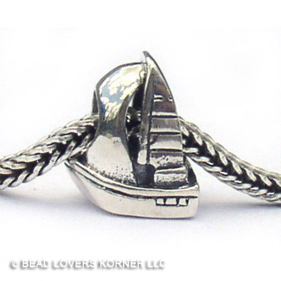 Sailboat Landmark European Bead Sterling Silver LM057