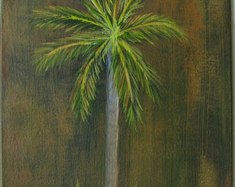 Tropical Palm Tree Original Acrylic Painting