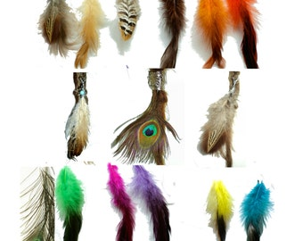 Buy 3 & get 1 extra for free: pick color feather dread bead