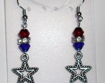 4th of July Red, White & Blue Earrings