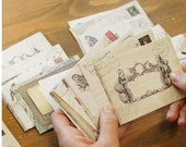 12 Pcs Paper Envelope Set kraft Paper Envelopes DIY Letter Envelopes