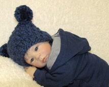EZ-Knit Jester Baby Hat Knitting Pattern - Super Bulky - PDF