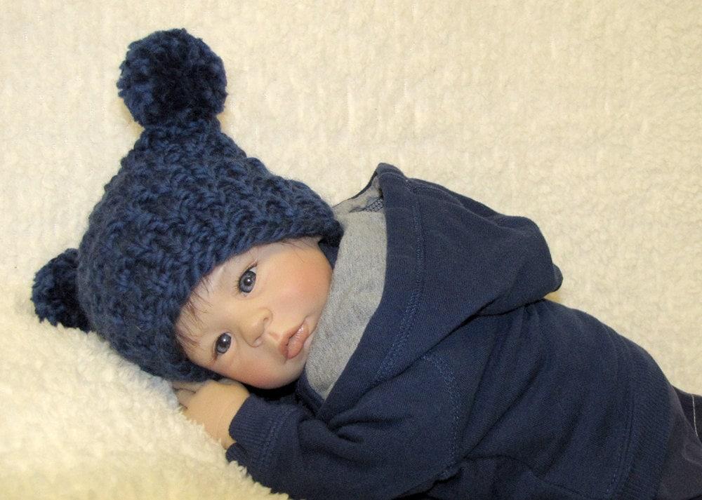 Knitting Pattern For Jester Wool : EZ-Knit Jester Baby Hat Knitting Pattern Super by ezcareknits