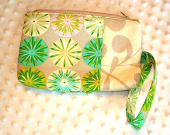 Ziptop Pouch Cosmetic Case with Wristlet