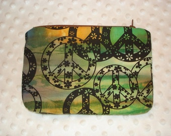 Peace Signs Ziptop Pouch Cosmetic Case