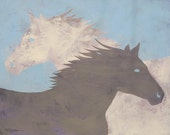 """Buggs The Painting Horse """"Yin Yang"""" Fine Art Reproduction"""