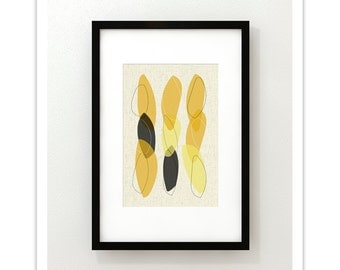 LOOP no.3 - Giclee Print - Mid Century Modern Danish Modern Minimalist Cube Modernist Eames Abstract