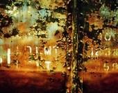 Train Photograph no. 1  8X10 print rusty railroad car photography steampunk