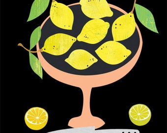 when life gives you lemons-limited edition art print