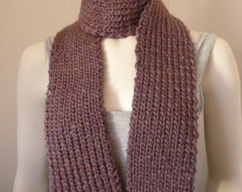 Chunky Knit Scarf, Womens Knit Winter Scarves, Long Scarf, Long Winter Scarf