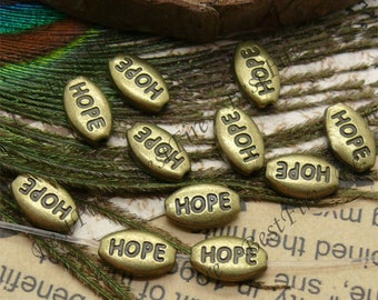 100pcs 9x11mm Antique brass hope Interval beads, metal beads,spacers finding beads