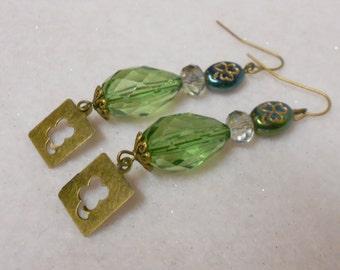 St. Patrick's Day Earrings 4-Leaf Clover Earrings