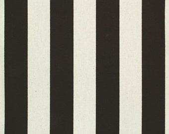"Custom Tablecloth Black and White Canopy Stripe 54"" x 54"" Square"