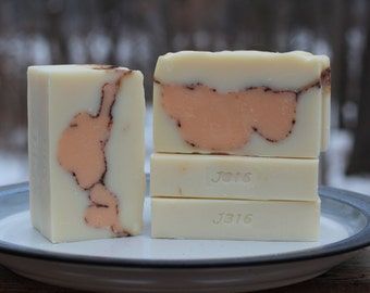 Orange Patchouli Scented Handcrafted Olive Oil Soap - Hippy - Christian