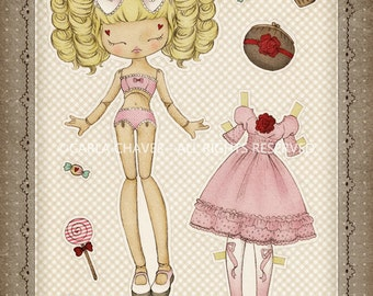My Lolita Paper Doll - made to order