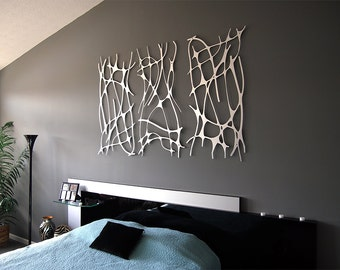 Art Nouveau Web TRIO in Brushed Aluminum