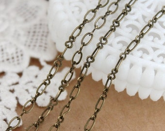 10Feet Chain Antique Bronze Plated Brass Eight Figure Chains Perfect for  Necklaces and Bracelets (CHAINSS-30)