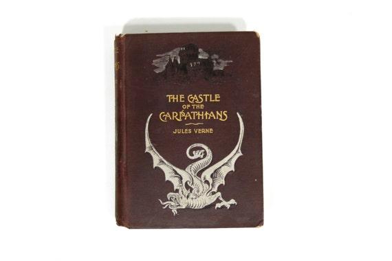 RARE Castle of the Carpathians by Jules Verne - Antique - Book -1800's