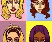 Fierce Four Women of thee Apocalypse Postcard