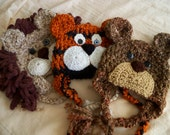 Lions and Tigers and Bears Hat Set - Baby Hats - Wizard of Oz Collection Triplet Set - Photo Prop Hat Trio - by JoJosBootique