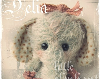 elephant pattern Delia by ASTRIDBEARS PDF Instant Download