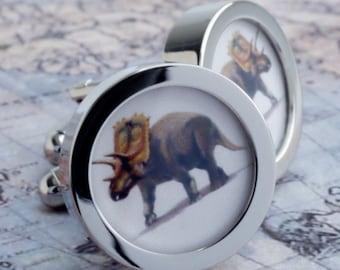 Triceratops Dinosaur Cuff Links