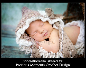 Newborn Girl Crochet Hat,  Baby Girl Hat Photo Prop, Crochet Baby Bonnet, Newborn Baby Girl Crochet Photo Prop