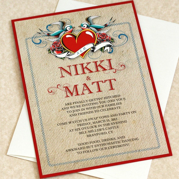 Rockabilly Wedding Invitations could be nice ideas for your invitation template