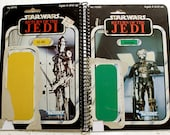 Zuckuss (4-LOM) and IG-88 Vintage Star Wars Return of the Jedi Notebook/Journal