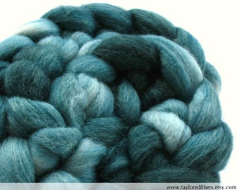 Blue Face Leicester/Tussah Silk Roving (Top) (ABS630)