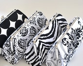 A SET of 5 Bridesmaids Clutches -  Create a Custom Bridesmaid Clutches in your choice of fabrics