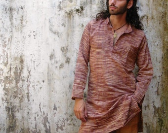 khadi cotton long kurta ~