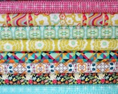 HALF YARD Bundle - Carnaby Street - Rad Love palette - Art Gallery Fabrics - by Patricia Bravo  - 10 pcs