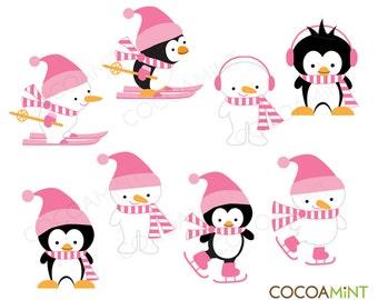 Pink Snow Buddies Clip Art