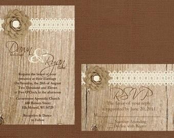 items similar to diy rustic wedding invitation, diy sunflower, Wedding invitations