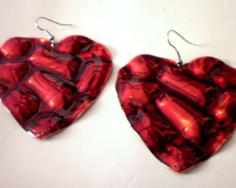 Passion red  hearts /Valentine's Day/ women / free shipping