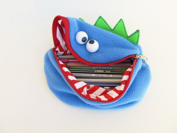 Monster pencil case boy toy bag handmade