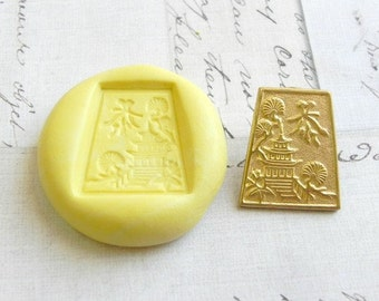 ASIAN TEMPLE - Flexible Silicone Mold - Push Mold, Polymer Clay Mold, Resin Mold, Pmc Mold
