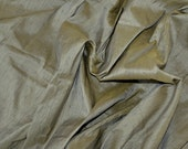 Silk Dupioni in Grey with Yellow shimmers, Extra wide 56 inches, Half yard DEX 180
