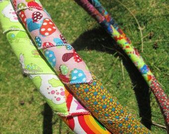 Mix 'n Match Patchwork Fabric Hula Hoop with Custom Tubing, Diameter & Grip Options! Great for Beginners!