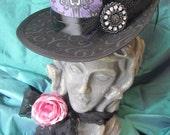 Haunted Mansion, Steampunk, Gothic, Victorian, Halloween, Mini Top Hat